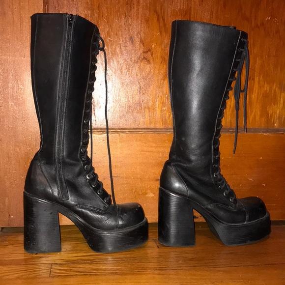 9s Vintage Candies Goth Platform Boots